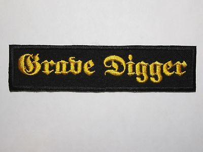 GRAVE DIGGER embroidered logo NEW patch heavy metal