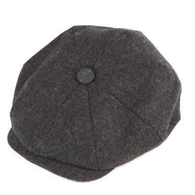 Christys' Hats Baker Boy Cap Melton Wool Grey