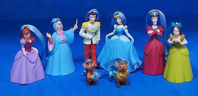 Disney Cinderella Fairy Godmother Resin Christmas Ornament 8 Pc Set Figurine
