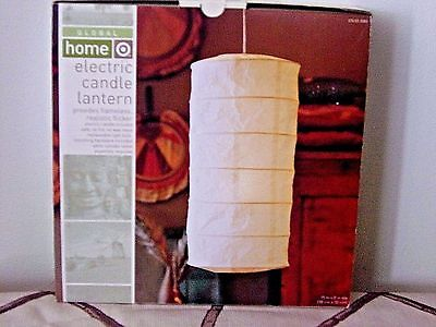 "NEW 15"" x 8"" Indoor Feng Shui Electric Flickering Hanging Chinese Paper Lantern"