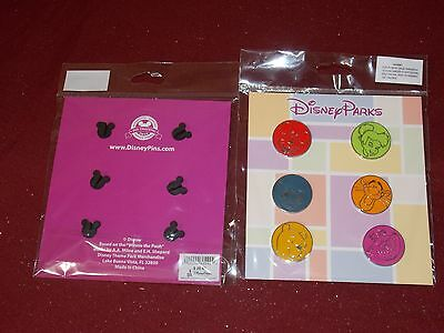 Disney Park Collection of 6 Pins set Disneyland with Original Card New Sealed
