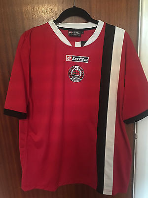 CLYDE FC away shirt red LOTTO size L large mens short sleeved