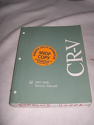 1997 1998 Honda Crv Service Manual Shop Repair Factory Cr V