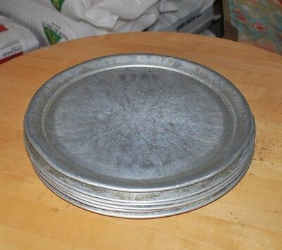 "13"" Aluminum Pizza Trays with Rim, Lot of 6"