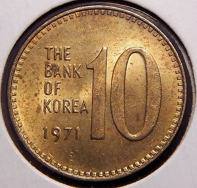 *BU RDBN* South Korea 10 Won 1971 Nice Coin!