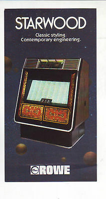 STARWOOD By ROWE 1981 ORIGINAL JUKEBOX MINI PROMO SALES FLYER