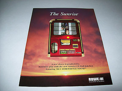 Rowe Ami Laserstar Sunrise Original Nos Jukebox Sales Flyer Brochure 1998