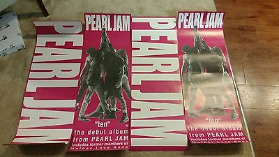Pearl Jam Ten Promotional Poster and Banner Combo/Rare/Good Condition