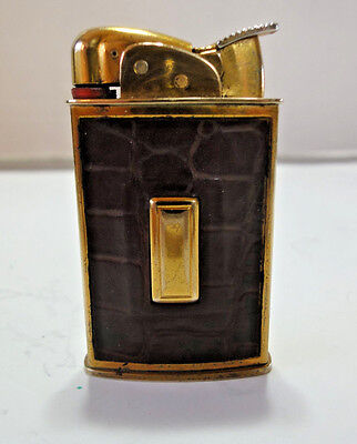Evans Ligher, Leather Clad With Gold Finish c/w Original Box & Brochure