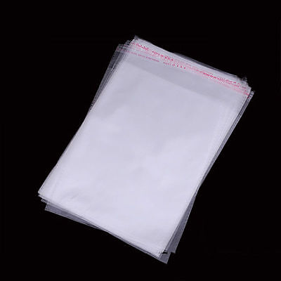 2 x 2 Clear Resealable Recloseable Self Adhesive Cello Lip Tape Poly Plastic Bag