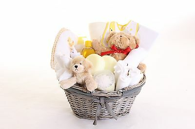 Cuddly Newborn Baby Gift Basket Hamper Baby Shower Boy Girl Neutral