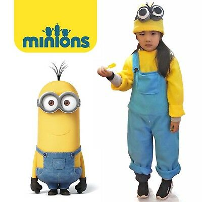 Cute Despicable Me Yellow Minion Costume Child Halloween Animal Cosplay Jumpsuit