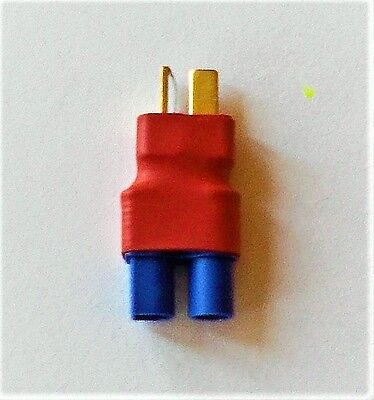 New 1 x NO WIRES Male T-Plug Deans Style TO EC3 Connector Adapter Aussie Made