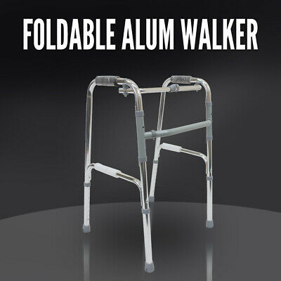 Folding Aluminium Walking Frame, Adjustable Height, Medical Walker