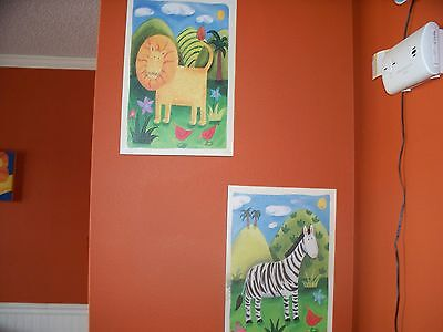 2 8 x 10 nursery pictures. Animal prints
