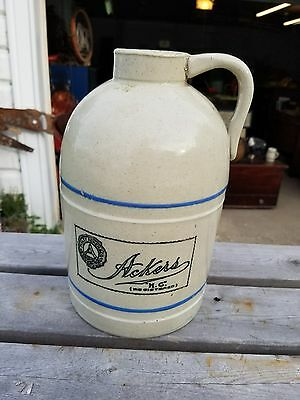 Antique Oyster Jug,stoneware, Advertising ,crocks