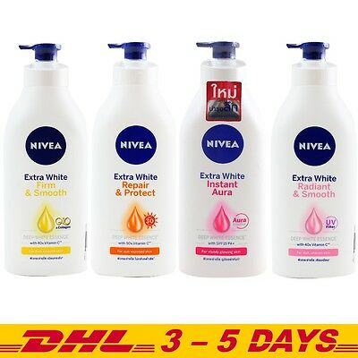 550,600 ml - Nivea Extra White body Lotion Whitening Skin Care Repair & Protect