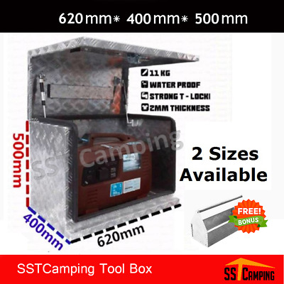 Aluminium Generator Tool box 620 500 400 2.5mm Checkered Plate Truck Toolbox Ute