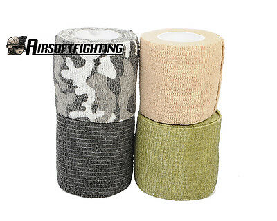 5CMx4.5M Outdoor Military Camouflage Wrap Tape Stretch Bandage Hunting Guns