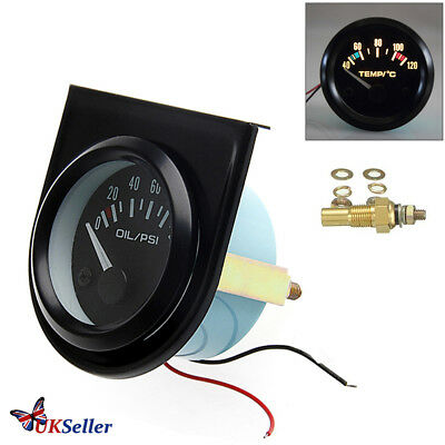 "2"" 52mm Speco Meter Car Pointer Water Temperature Temp Gauge LED Light 40-120℃"