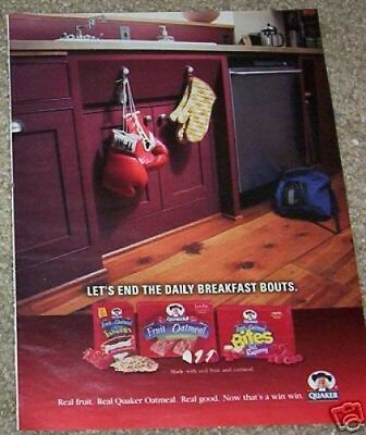 2004 ad page - Quaker Oats Fruit & Oatmeal - Boxing Gloves kitchen ADVERT PAGE