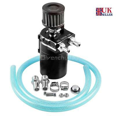 Universal 0.3L Baffled Aluminum Engine Oil Catch Breather Can Reservoir Tank