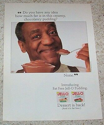 1995 ad page - Jell-O Pudding -BILL COSBY- Kraft Foods advertising PRINT ADVERT