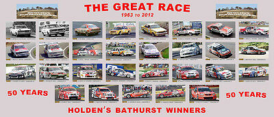 HOLDEN BATHURST WINNERS Panoramic 50 Years of the Great Race POSTER x 2 *SALE*