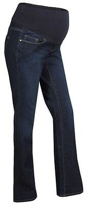 Ladies Cotton Denim Maternity Bootcut Jeans  - Size - Small