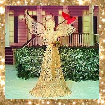 """70"""" Lighted Angel with Cardinal Christmas Yard Sculpture (New) - FREE SHIPPING"""
