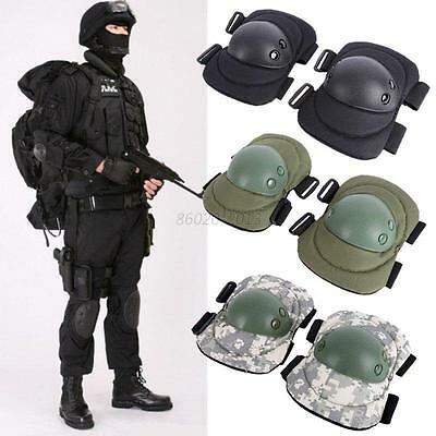 AU 4x Tactical Military Combat Paintball Skate Elbow Knee Pad Airsoft Protector