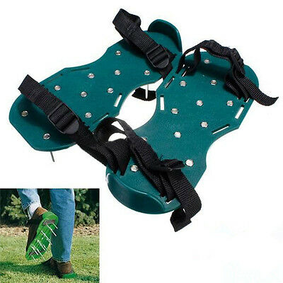 Woodside Garden Lawn Care Aerator Aerating Sandals Shoes 30x13cm Spikes Green