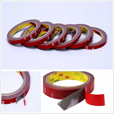 10 Pcs 3m*10mm Autos Automobiles Acrylic Foam Double Side Tape Adhesive Roll Red