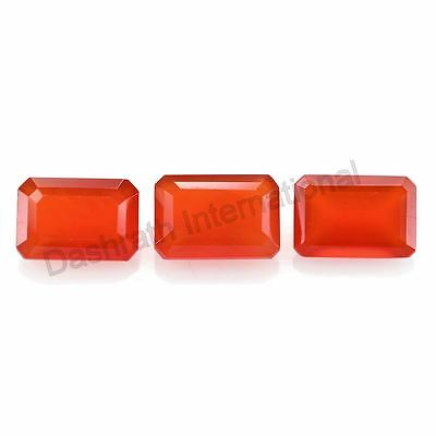 Natural Carnelian Octagon Cut 4x6mm To 10x12mm Orange Color Calibreted Gemstone
