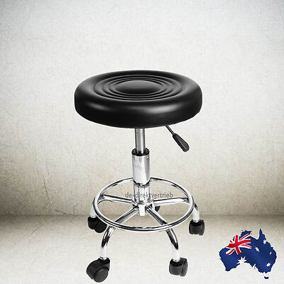 Hydraulic Stool Alloy Salon Lift Swivel PU Barber Hairdressing Chair Beauty SPA