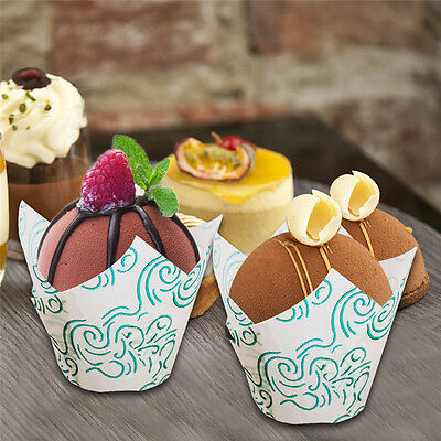 50PCS Tulip Muffin Wraps  Cupcake Baking Cases Professional Coffee Shop Quality