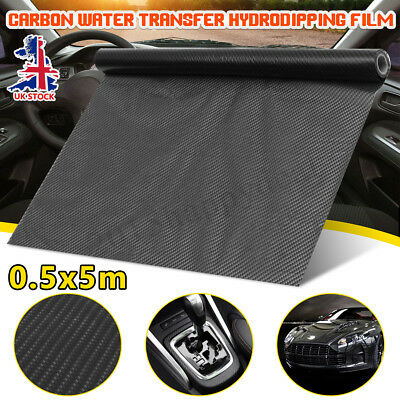 UK 5m Hydro Dipping Texture Carbon Fiber Water Transfer Film Printing Black