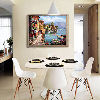 Fashion Home Decorative Venice City View Oil Painting on Canvas Hand Painted Art