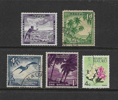NAURU - mixed collection, 1954 pre-decimal & 1973 decimal