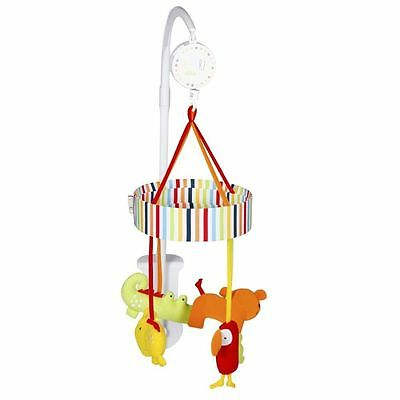Red Kite Baby Wind Up Musical Cot Mobile Safari Soft Animals From Birth Calming