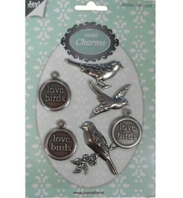 Joy Crafts Metal Charms LOVE BIRDS 6350/0303,Charms,Anhänger,Embellishment