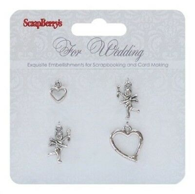 Scrap Berrys Charms SET FOR WEDDING 4, Embellishments,Hochzeit,SCB250001056