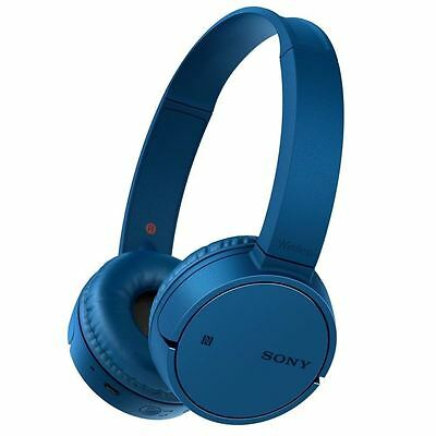 Sony Bluetooth DJ Headphones Wireless NFC Connectivity with Microphone - Blue