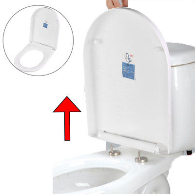 White quick release soft close toilet seat round oval bathroom heavy duty