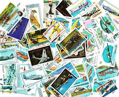 AVIATION 80+ all different stamps - Planes - mainly used or CTO cancelled - (20)