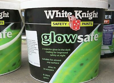 WHITE KNIGHT GLOW SAFE PAINT GREEN 4L Safety Paint for Improved Safety & New