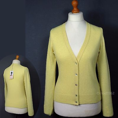 M&S & ALEXA CHUNG Fine WOOL Blend CARDIGAN ~ Asst Sizes ~ LEMON