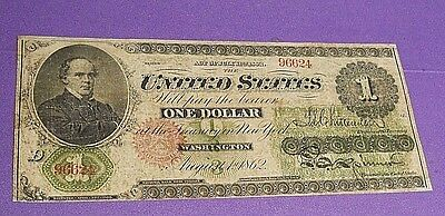 Series 1862 $1 US Legal Tender Large Size Note (Fine, F Condition)