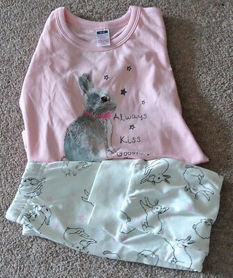 New girl 100% cotton pajamas pink and cream 12-18 months