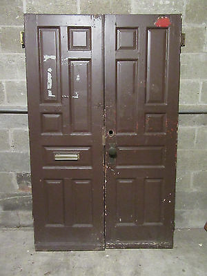 ~ ANTIQUE DOUBLE ENTRANCE FRENCH DOORS  ~ 48 x 75.5 ~  ARCHITECTURAL SALVAGE